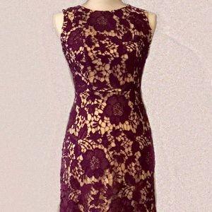 Beautiful Purple Lace Illusion Dress